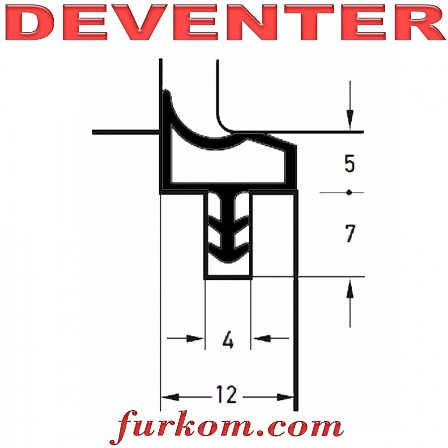 Уплотнитель Deventer M3967 серый
