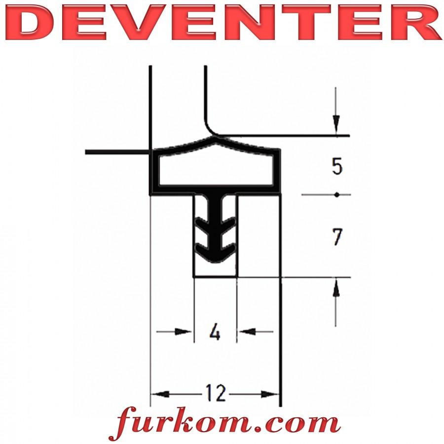 Уплотнитель дверной Deventer М 680 белый