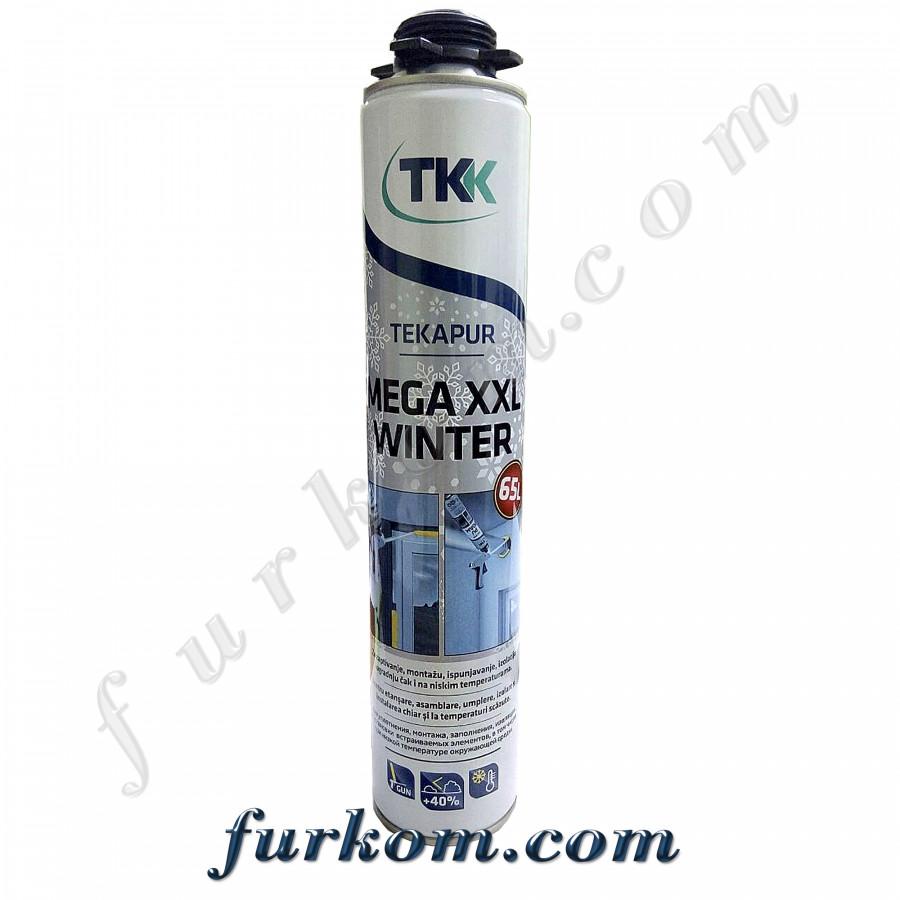 Пена монтажная профессиональная ТКК Mega XXL WINTER (зимняя) (65л)