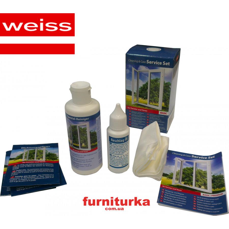 Набор по уходу за окнами (молочко,смазка уплотнителя,масло д/фурнитуры,салфетки)