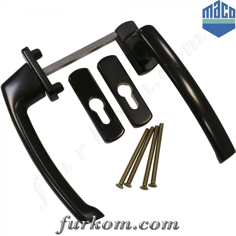 Ручка двухсторонняя  для раздвижной системы Масо (коричневая)