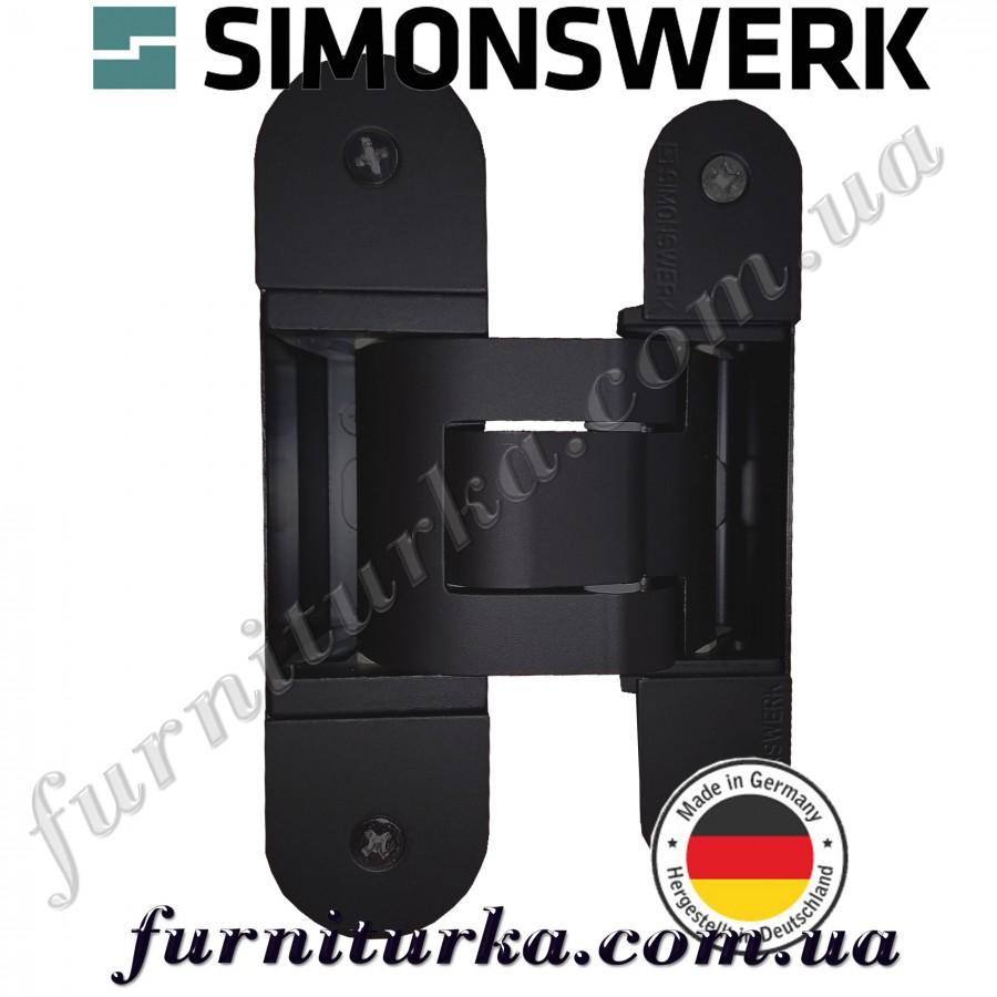 Скрытая петля Tectus Te 311 3D FVZ 40 RaL 9005 matt (чёрный матовый) 60 кг