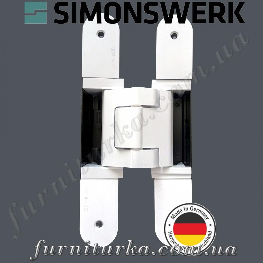 Скрытая дверная петля Tectus TE 540 3D А8 9016 (белая) 100 кг