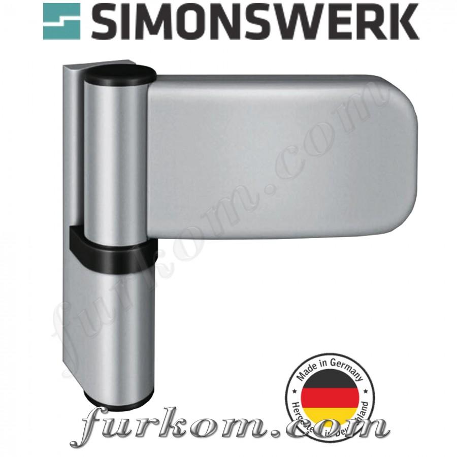 Петля для ПВХ дверей SIKU 3035 F1 серебро