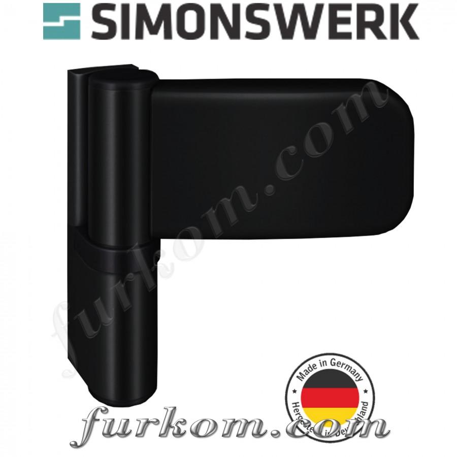 Петля для ПВХ дверей SIKU 3035 чёрная Ral 9005