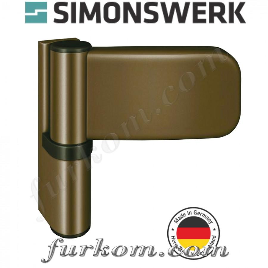 Петля для ПВХ дверей SIKU 3035 бронза Ral 1036
