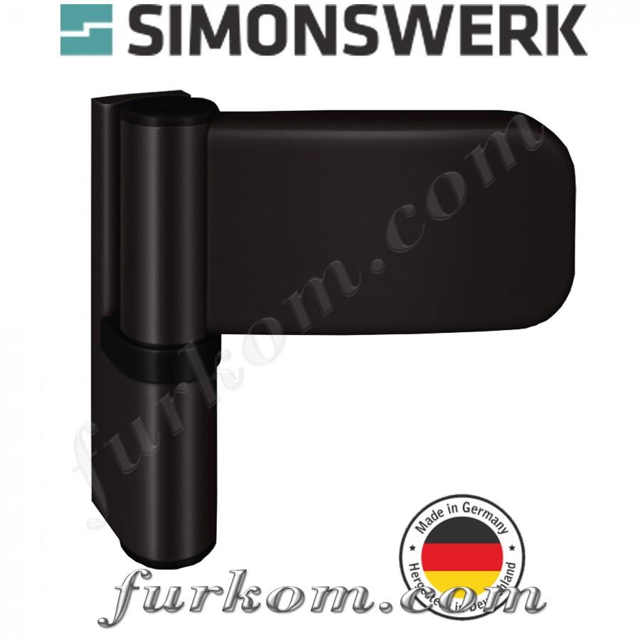 Петля для ПВХ дверей SIKU 3035 коричневая Ral 8022