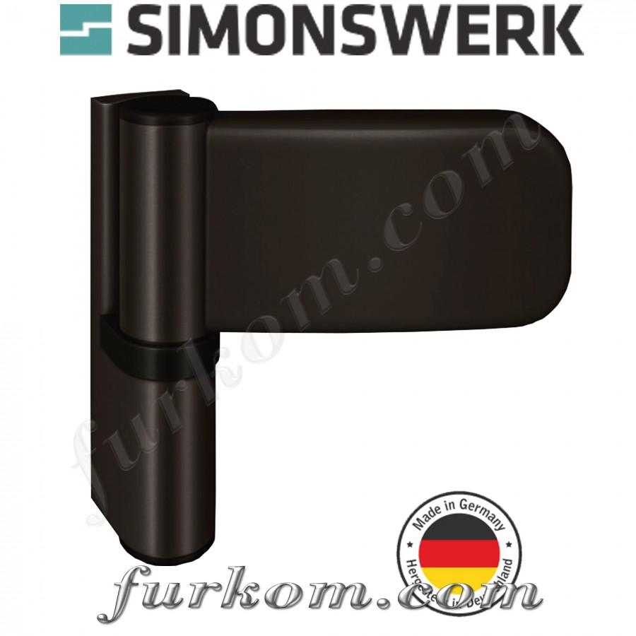 Петля для ПВХ дверей SIKU 3235 Ral 8022 тёмно-коричневый